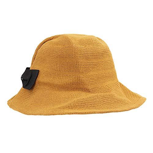 Villavivi Sombrero de Pescador Plegable con Al Aire Libre Caza Viaje Pesca Gorro de Pescador Selección (Jengibre)