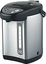 Classic Kitchen CK321NP 3.5QT (3.2L) Electric Kettle Hot Water Boiler Urn Pump Pot, Stainless Steel with Auto Dispense and Shabbat Mode