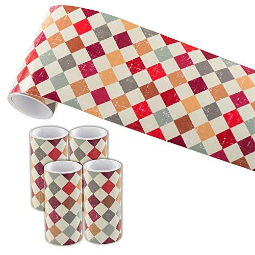 Tapeten Bordüre Wallpaper Borders 10 X 800cm für Wand, Fliesen, Wohnzimmer, Bad, Küche(Geometrische Muster)