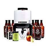 BrewDemon Hard Cider Kit Plus by Demon Brewing Company - Conical Fermenter Eliminates Sediment and Makes Wicked-Good Home Made Cider - 2 gallon hard cider kit