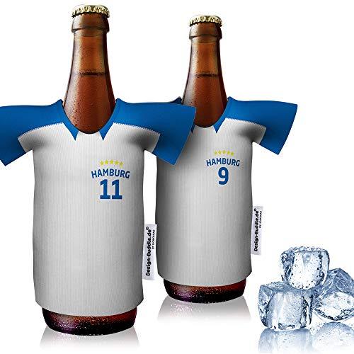 vereins-Trikot-kühler Home für Hamburg SV Fans   2er Fan-Edition  2X Trikots   Fußball Fanartikel Jersey Bierkühler by Ligakakao