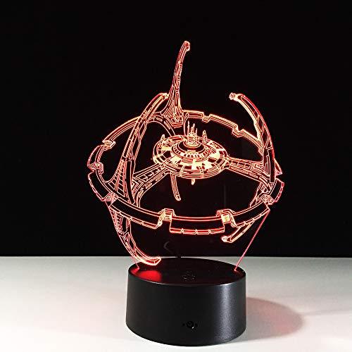 Jahrtausend-Falke 3d führte Lampen-entfernte Note buntes Nachtlicht Luminaria De Mesa Table Lamps die Leuchten der Kinder 3d