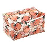 HOYOFO Makeup Bag Clear Cute Fruit Cosmetic Bag Small Transparent Make up Bag for Women Girls Waterproof Toiletry Organizer Pouch(Peach)