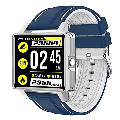 zyz The New LL5 Smart Watch 1,4 Pulgadas, IP68 Impermeable, Rastreador de Fitness Deportivo, Tasa del corazón y Detección de la presión Arterial Pulsera Inteligente,Azul