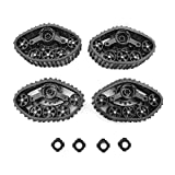YU-NIYUT 4pcs/Set Military Truck Track Wheels Snow Tires Replacement Parts for RC Crawler Car DIY Modified Upgrade Accessories, DIY RC Vehicle Modification Fun for Adults and Kids