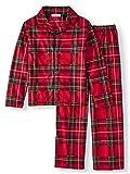 Komar Kids Toddler Boys Traditional Holiday Christmas Plaid Coat Style Pajamas (4T, Toddler Boys)