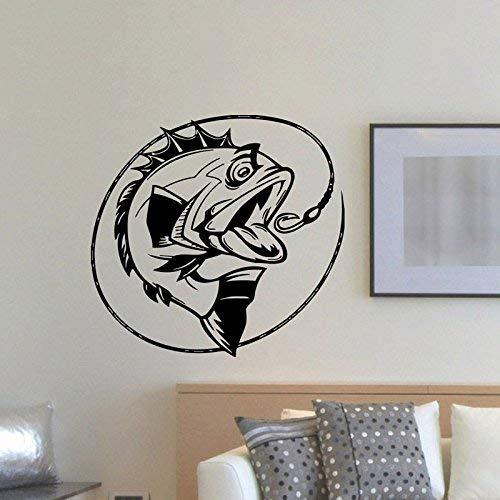Anzuelo VISline deporte al aire libre afición Decoración para el hogar tatuajes de pared pegatinas de vinilo sala de estar interior dormitorio póster 44x42cm