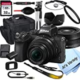Nikon Z50 Mirrorless Digital Camera with 16-50mm Lens+ 32GB Card, Tripod, Case, and More (18pc Bundle)