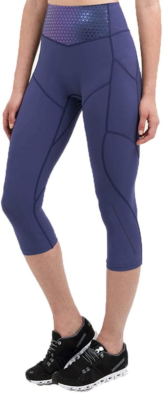 スポーツウェア パンツアウターウェアシームレスな圧縮パンツハイウエストタイトなスリムジム7ポイントの女性のスポーツパンツカジュアルスポーツ 水分吸湿発散性のある修正された脚タイプ (Color : 青, Size : XXL)
