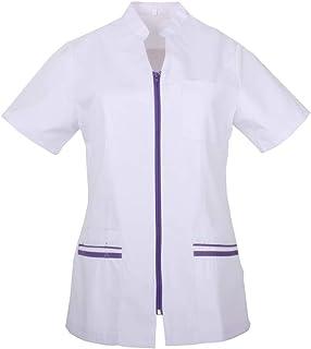 MISEMIYA - Casaca SEÑORA Mangas Cortas Uniforme Laboral CLINICA Hospital Limpieza Veterinaria SANIDAD HOSTELERÍA - Ref.702
