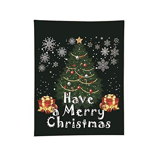 JIEHED Manta de Franela con temática navideña, 150 x 80 cm, E, 150cmx80cm