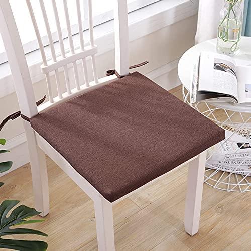 SFSGH Cojines japoneses de Color sólido para sillas, Cojines para sillas de Comedor, Lino de algodón, 3 cm de Grosor, Tatami de Grosor, cojín de Banco Universal Transpirable para Aliment