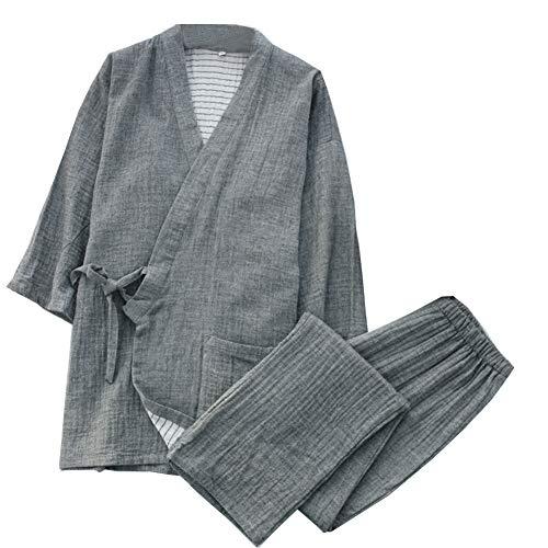 Bata para Hombre Jinbei Yukata japonés Kimono japonés Inicio Bata Pijamas