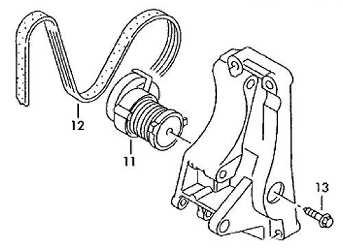 Volkswagen 030145299F (11 - Riemenspanndämpfer Ohne Klima)