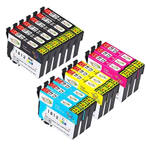 Win-tinten 18 pack di ricambio per Epson T18XL T1811 T1812 T1813 T1814 cartuccia d'inchiostro compatibile per Epson Expression Home XP-425 XP-422 XP-415 XP-412 XP-325 XP-322 XP-315 XP-312