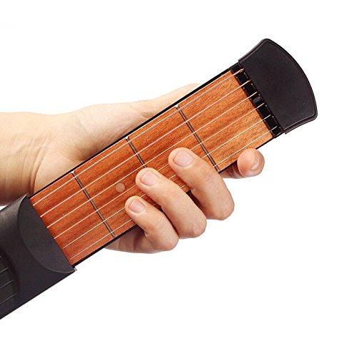 Kglobal tragbaren hölzernen Taschen Gitarre Praxis-Werkzeug-Gadget Guitar Chord Trainer