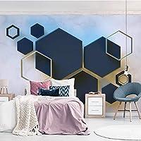 3D壁紙ポスター幾何学的な六角形カスタム大規模な壁紙の壁紙3Dテレビの背景リビングルームの写真の壁紙3Dルームの壁紙-450X300cm(177 x 118インチ)
