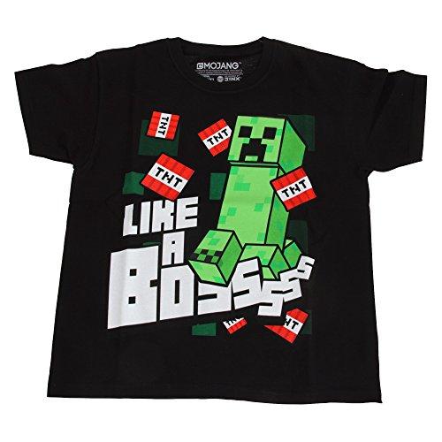 Minecraft kinderen/kinderen als een Bossss T-shirt