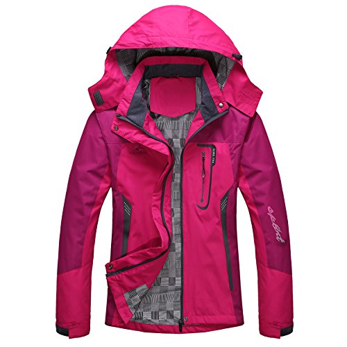 GITVIENAR Damen Wasserdicht Atmungsaktiv Softshell Multifunktions Damen Jacke Outdoor Sport Jacken Mit Kapuze dünne wasserdichte Windjacke