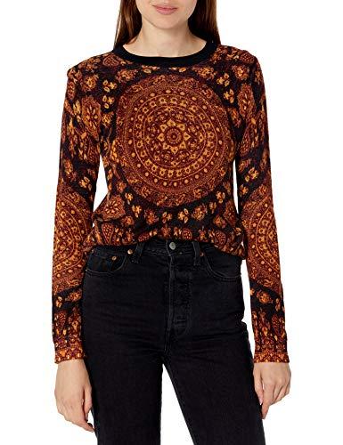 Desigual Womens JERS_Lugano Pullover Sweater, Brown, M