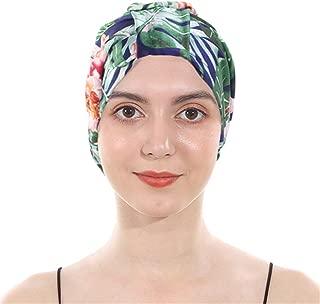 Classic Pleated Silky Turbans Elasitc Sleep Bonnet Twist Beanie Hair Wrap