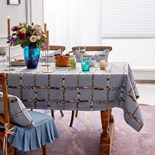 Creek Ywh Tischdecken Tischläufer Partytischdecken Tischdecke Netto Rot Runde Tischdecke Kaffeetischdecke Tischdecke Schreibtisch Tischdecke Quadratische Gittertuch Computer Kleine Tischdecke, Bl