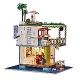Kit de Maison de poupée Bricolage 3D, Maison de poupée en Bois Puzzle Jouet Fait à la Main LED Maison de poupée Miniature, Meilleur Cadeau pour Anniversaire de Noël pour Enfants et Adultes