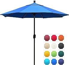 EliteShade Sunbrella 9Ft Market Umbrella Patio Outdoor Table Umbrella with Ventilation and 5 Years Non-Fading Guarantee,Blue