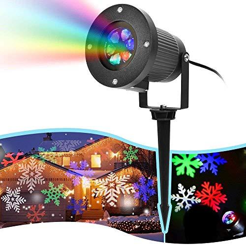 LHXHL Proiettore di Natale Luci di Natale, da Fiocco Proiettore Impermeabile Neve Fiocco di Babbo Natale della Lampada LED Impermeabile Esterna del Prato Inglese della Luce Giardino