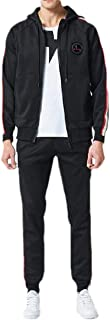 Mens Activewear Drawstring Full Zip Hooded Warm Tracksuit Sports Set Casual Sweat Sets