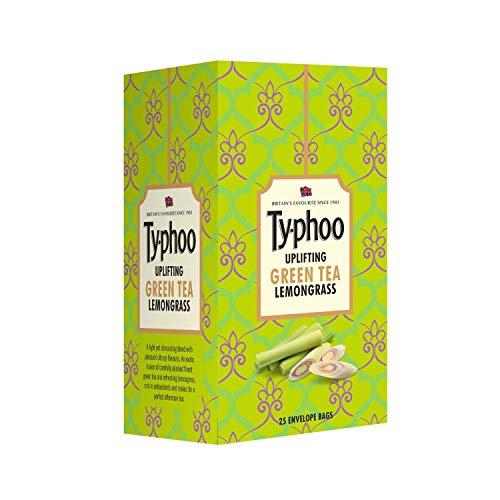 Typhoo Uplifting Green Tea Bags - Lemon Grass, 25 Count