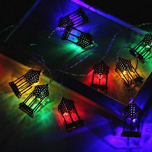 Lichterkette Muslim Ramadan Festival,FeiliandaJJ 1.6M 10LED Goldenen LED-Laternen LED Licht Hochzeit Party Halloween Xmas Innen/Außen Haus Deko String Lights (Mehrfarbig)