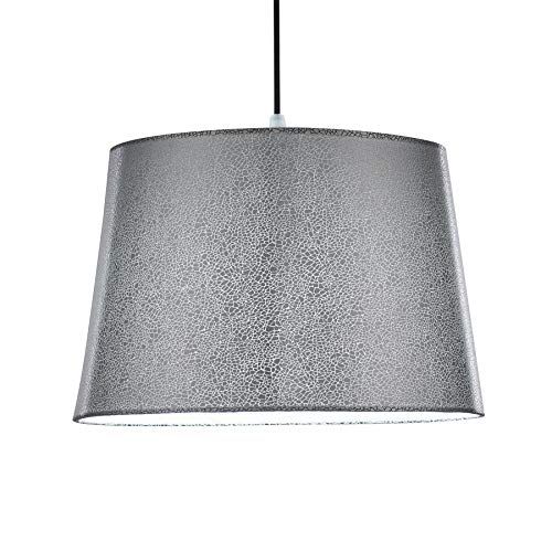iTrend Multifunctional Mosaic Lamp Shade -for Ceiling/Desk/Floor Lamp – Modern Living Room, Bedroom & Study [Silver]