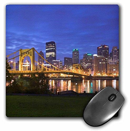3dRose LLC 8 x 8 x 0.25 Inches Mouse Pad, Pennsylvania Pittsburgh City Skyline Walter Bibikow (mp_94229_1)