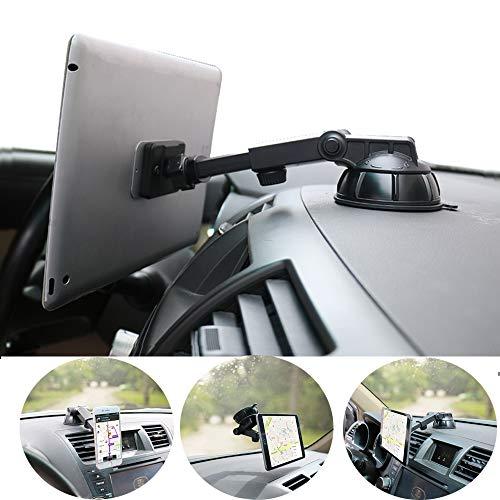 PLDHPRO Handy- und Tablet-Autohalterung magnetisch, Armaturenbrett-Windschutzscheibenhalterung, 360 ° drehbarer, TPU-Saugfunktion klebriges Gel, für iPhone, iPad, Größe 4