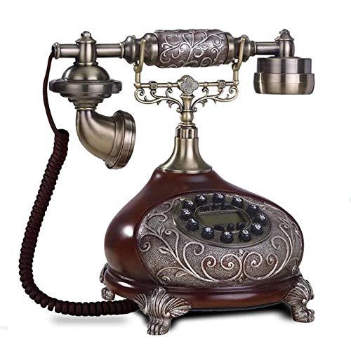 CHENXU Oficina Teléfono Fijo Vintage Teléfono Fijo Llavero Teléfono Fijo Antiguo para Office Home Hotel Hecho de Resina Rilievo Antika