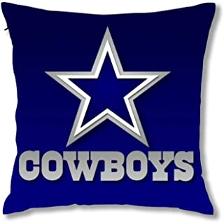 haiqingcjhov Throw Pillow Cover Decor Cushion Case Super Soft Decorative Pillow Covers for Home Sofa Couch Dallas Cowboys 20X20