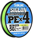 Unbekannt Sunline Siglon PE X4 Light Green - Hilo trenzado para pesca de spinning, 150 m, diámetro...