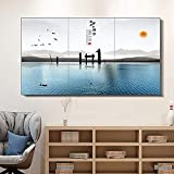 Wall-Mounted Electric Fan Heater - HD Mural Painting Panel Heating,Energy Saving,Mute Wall Warm Carbon Crystal Fast Heating Suitable for Decoration Living Room,Office,1500W,C
