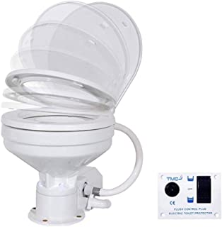 Five Oceans TMC Marine 12V Electric Small Bowl Toilet with Macerator Pump FO-3869