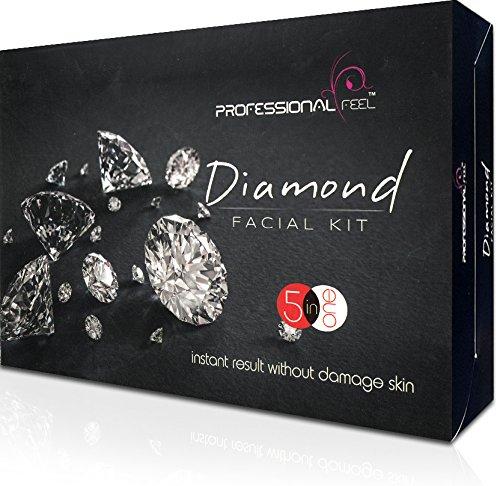 Professional Feel Diamond Facial Kit, Instant Glow Beauty Parlour Skin Whitening Facial Kit Pro Active, All Type of Skin Solution for men & women skin glow, fairness - 500 gm (Set of 5) (Diamond 500)