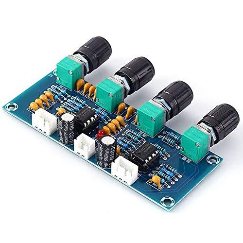 Tablero amplificador digital DC 12V-24V Preamplificador Tuner Dual Channel Tone Board Ajustador...