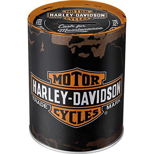 Nostalgic-Art - Harley-Davidson Genuine Logo - Spardose, Geschenke für Harley-Davidson Fans, als Sparschwein aus Metall, Vintage Sparbüchse aus Blech