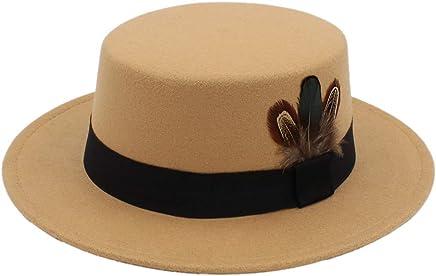0d005c77b69c2f MEIPA TIME New Pork Pie Hat Men Tan Wool Fedora Hats Winter Bowler Women  Brown Felt