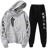Unisex fashionable street coat pants Attack on Titan Hoodie Eren Jager Sports suit Cosplay Jiyuu no Tsubasa Costume (M, 7)