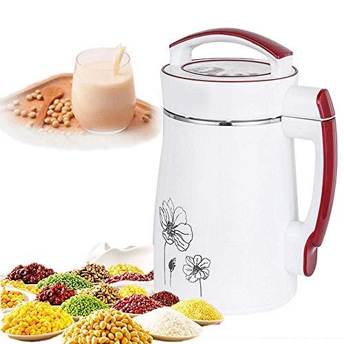 BGSFF Multifunktionale Suppen-Smoothie-Maschine Sojamilchhersteller Mixed Cooking, 1,6 l gebürsteter Edelstahl mit automatischer Reinigung und Überlaufschutz, Isolierung gegen Verbrühung