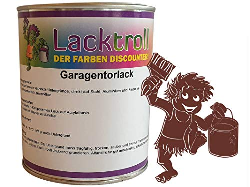 Garagentorlack Rotbraun RAL 8012 Seidenglanz 750 ml