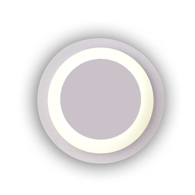 失速ピストル寝具ラオハオ 北欧モダンマカロンled円形カラー壁取り付け用燭台壁ランプリビングルーム寝室研究テレビ壁照明器具用リビングルーム寝室廊下 ウォールウォッシャー (Color : White)