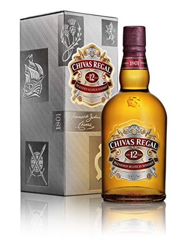 Chivas Regal 12 Jahre Premium Blended Scotch Whisky – 12 Jahre gereifter Whisky aus schottischen Malt & Grain Whiskys aus der Region Speyside – 1 x 0,7 L