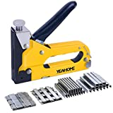 Upholstery Staple Gun Heavy Duty, YEAHOME 4-in-1 Stapler Gun with 4000 Staples, Manual Brad Nailer Power Adjustment...